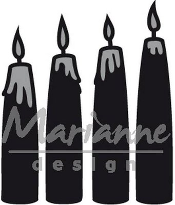 Marianne Design Craftable - Candle Set CR1426