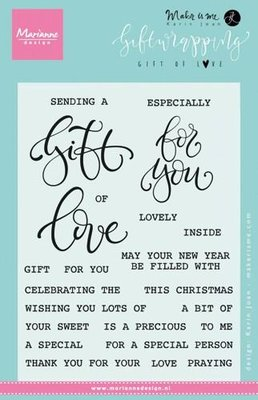 Marianne Design Stempel - Giftwrapping Gift of Love KJ1718