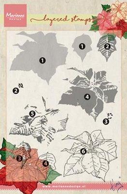 Marianne Design Stempel - Poinsettia Layering TC0859