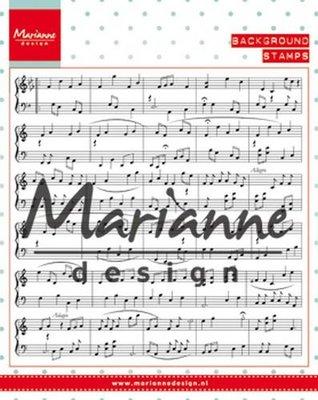 Marianne Design Stempel - Achtergrond Muzieknoten CS0997