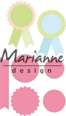 Marianne Design Collectable - Rosettes & Labels COL1444