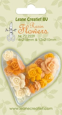 Leane Creatief Resin Flower Roses - Yellow 72.2229