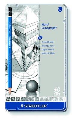 Staedtler Mars Lumograph Potlood - Set van 12 Medium 100 G12