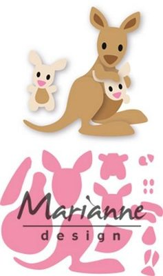 Marianne Design Collectable - Kangaroo & Baby COL1446