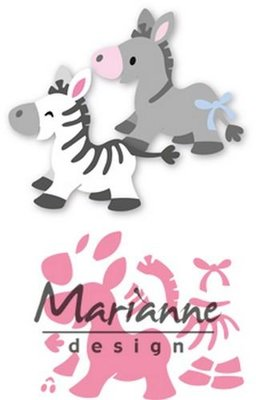 Marianne Design Collectable - Zebra & Donkey COL1447