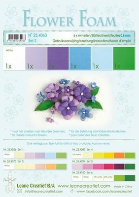Leane Creatief Flower Foam Assortiment  2 - Blauw-Paars 25.4063
