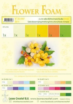 Leane Creatief Flower Foam Assortiment  4 - Geel 25.4087