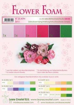 Leane Creatief Flower Foam Assortiment  5 - Rood-Roze 25.4094