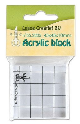 Acrylblok Leane Creatief - 45 x 45 mm 55.2205