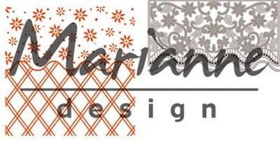 Marianne Design Embossing Folder & Stansmal - Flower Border DF3444