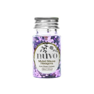 Nuvo Confetti - Muted Mauve Hexagons 1061N
