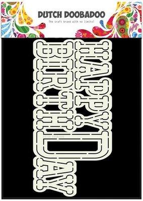 Dutch Doobadoo Card Art - Happy Birthday 470.713.656