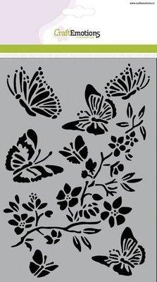 CraftEmotions Mask - Vlinders met Bloesemtak