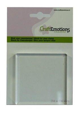 Acrylblok CraftEmotions - 74 x 74 mm