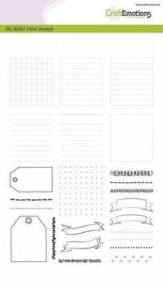CraftEmotions Clearstamp Bullet Journaling - Frames & Randen