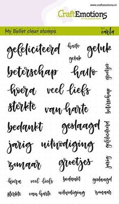CraftEmotions Clearstamp Bullet Journaling - Tekst Diverse