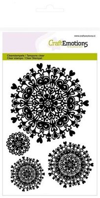 CraftEmotions Clearstamp - Mandala Hart