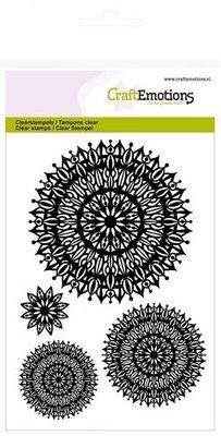 CraftEmotions Clearstamp - Mandala Bloem