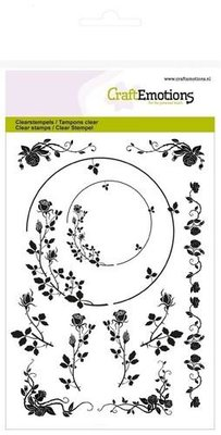 CraftEmotions Clearstamp - Ornamenten Roos