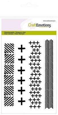 CraftEmotions Clearstamp - Kruizen & Visgraad