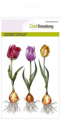 CraftEmotions Clearstamp - Tulp