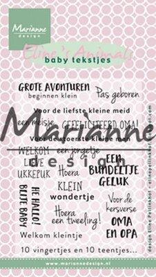 Marianne Design Stempel - Baby Tekstjes EC0171