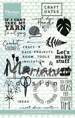 Marianne Design Stempel - Craft Dates 1 EC0166