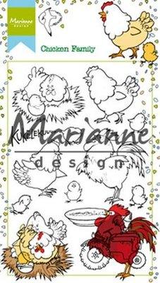 Marianne Design Stempel - Chicken Family HT1631