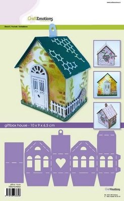 CraftEmotions Stencil - Giftbox Huis