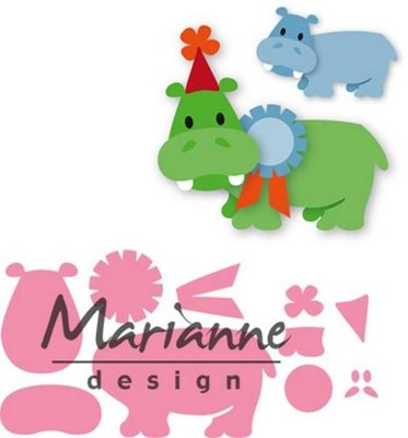 Marianne Design Collectable - Eline's Happy Hippo COL1450