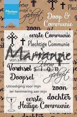 Marianne Design Stempel - Doop & Communie CS1005