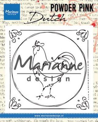 Marianne Design Stempel Powder Pink - Nederlandse Haan PP2805