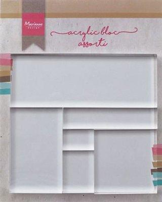 Acrylblok Marianne Design - Set van 6 LR0013