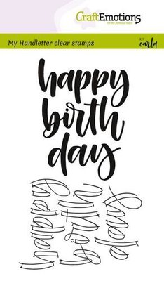 CraftEmotions Clearstamp - Happy Birth Day