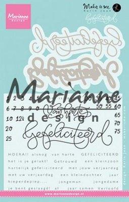 Marianne Design Stempel - Gefeliciteerd KJ1721