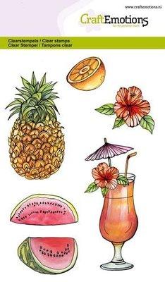 CraftEmotions Clearstamp - Vruchten, Sap