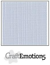 CraftEmotions Linnenkarton 30,5 x 30,5 cm - Klassiek Wit