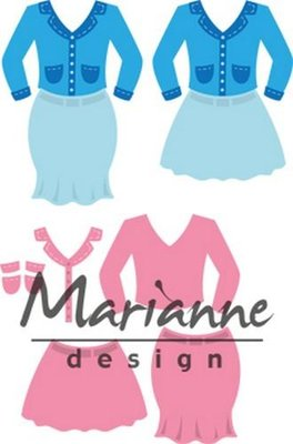 Marianne Design Collectable - Lady's Suit COL1453