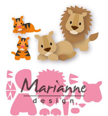 Marianne Design Collectable - Leeuw/Tijger COL1455