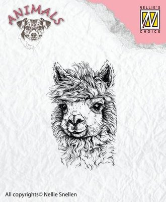 Nellie's Choice Clearstamp Animals - Lama ANI014