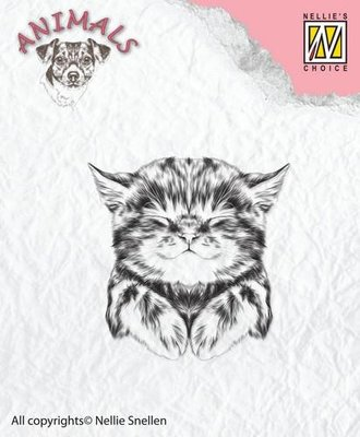 Nellie's Choice Clearstamp Animals - Kat ANI017