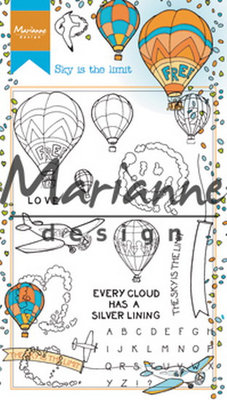 Marianne Design Stempel - Hetty's Border Sky is the Limit HT1634