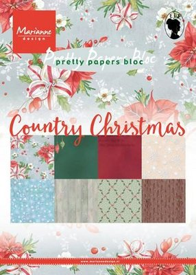 Marianne Design Paper Pack A5 - Country Christmas PK9139 OP=OP