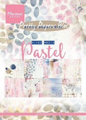 Marianne Design Paper Pack A5 - Mixed Media Pastel PK9141 OP=OP