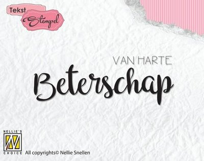 Nellie's Choice Clearstamp - Van harte beterschap DTCS020