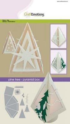 CraftEmotions Die - Piramide Box denneboom