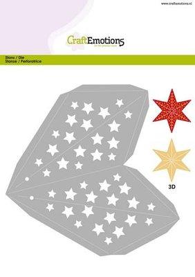 CraftEmotions Die - Kerstversiering ster 3D groot