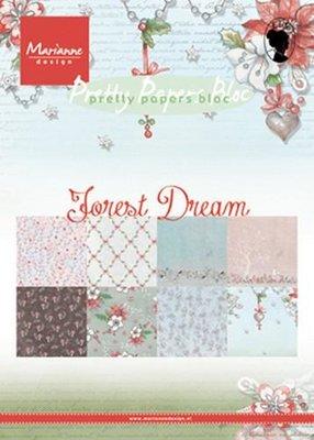 Marianne Design Paper Pack A5 - Forest Dream PK9158