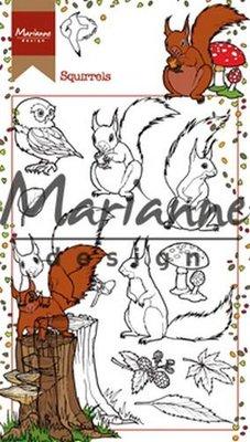 Marianne Design Stempel - Hetty's Eekhoorns HT1637