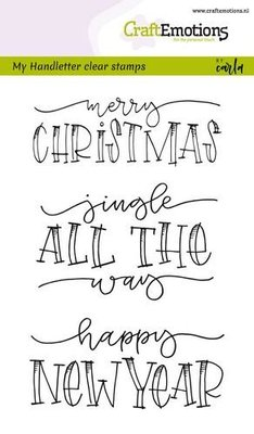 CraftEmotions Clearstamp - Handlettering Jingle all the way